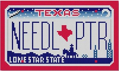 click here to view larger image of Texas Mini License Plate (hand painted canvases)
