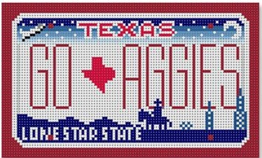 click here to view larger image of Go Aggies - Texas Mini License Plate (hand painted canvases)