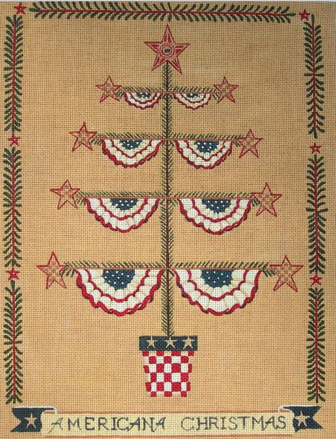 click here to view larger image of Americana Christmas (hand painted canvases)