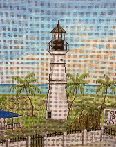 click here to view larger image of Key West Lighthouse (hand painted canvases)