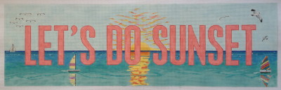 click here to view larger image of Let's Do Sunset (hand painted canvases)