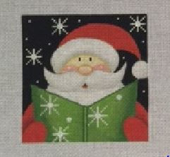 click here to view larger image of Santa Caroller (hand painted canvases)