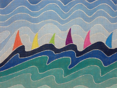 click here to view larger image of Regatta (hand painted canvases)