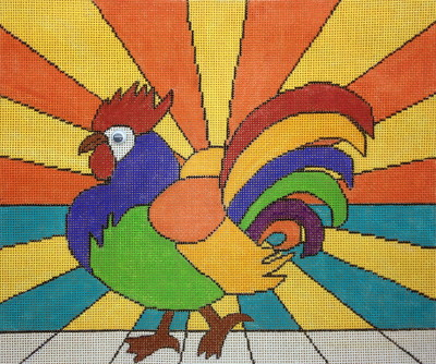 click here to view larger image of Sunrise Strut (hand painted canvases)