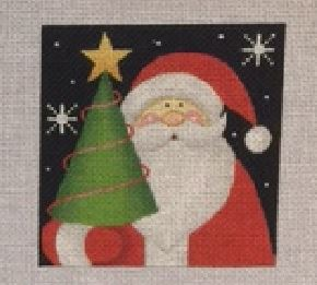 click here to view larger image of Santa Tree (hand painted canvases)