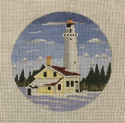 click here to view larger image of Cana Island Lightehouse Ornament (hand painted canvases)