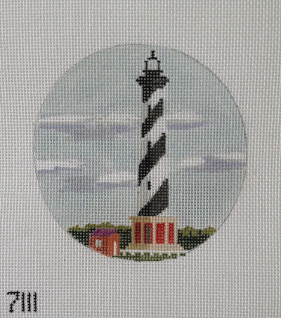 click here to view larger image of Cape Hatteras Lighthouse Ornament (hand painted canvases)