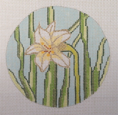 click here to view larger image of Easter Lily Ornament (hand painted canvases)