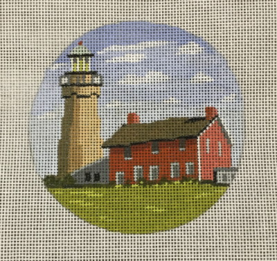 click here to view larger image of Fairpoint Harbor Light Ornament (hand painted canvases)