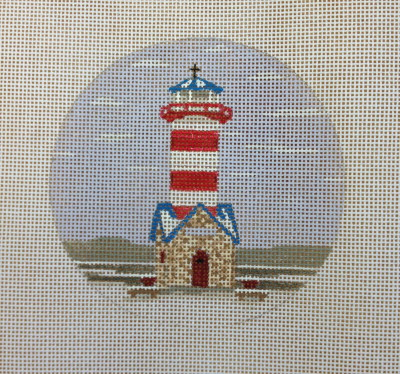 click here to view larger image of Grafton Light Ornament (hand painted canvases)