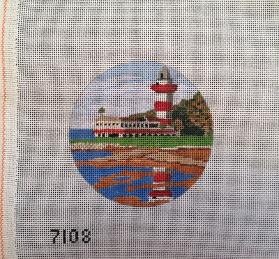 click here to view larger image of Harbour Town Lighthouse Ornament (hand painted canvases)