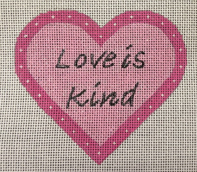 click here to view larger image of Love Is Kind (hand painted canvases)
