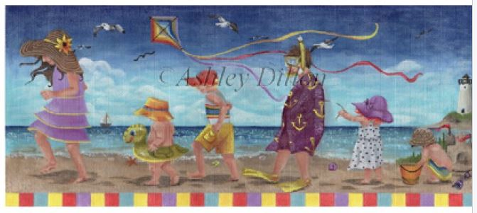click here to view larger image of Beach March (hand painted canvases)
