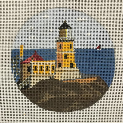 click here to view larger image of Split Rock Light Ornament (hand painted canvases)