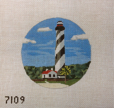 click here to view larger image of St Augustine Lighthouse Ornament (hand painted canvases)