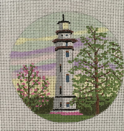 click here to view larger image of Staten Island Light Ornament (hand painted canvases)
