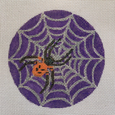 click here to view larger image of Velvet Spider Ornament (hand painted canvases)