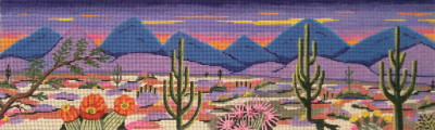 click here to view larger image of Desert Sunset (hand painted canvases)