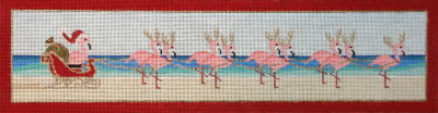 click here to view larger image of Flamingo Folly (hand painted canvases)