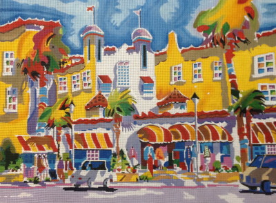 click here to view larger image of Colony Hotel (hand painted canvases)