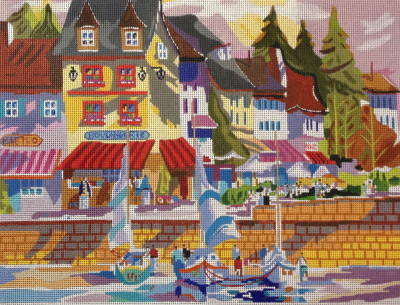 click here to view larger image of Honfleur, France (hand painted canvases)