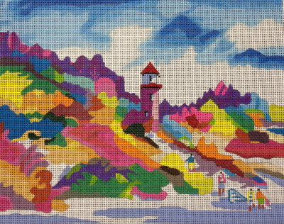 click here to view larger image of Lighthouse Landing (hand painted canvases)