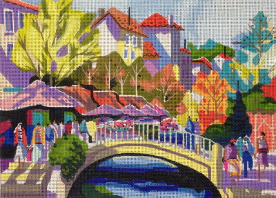 click here to view larger image of Provence, France (hand painted canvases)