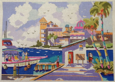 click here to view larger image of Sunny Sarasota (hand painted canvases)
