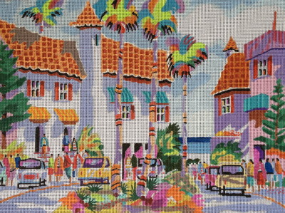 click here to view larger image of Venice 2 (hand painted canvases)