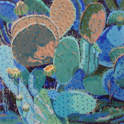 click here to view larger image of Prickly Pear (hand painted canvases)