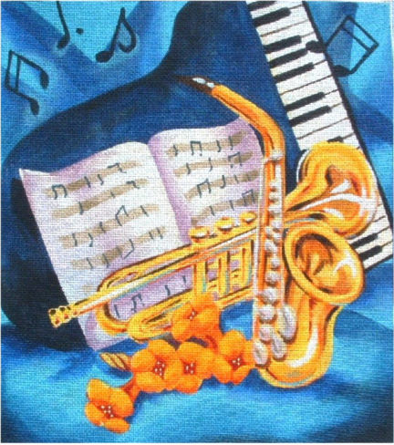 click here to view larger image of Jazz (hand painted canvases)