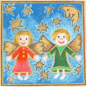click here to view larger image of Two Angels (hand painted canvases)