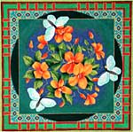 click here to view larger image of Flowers and Butterfly (hand painted canvases)