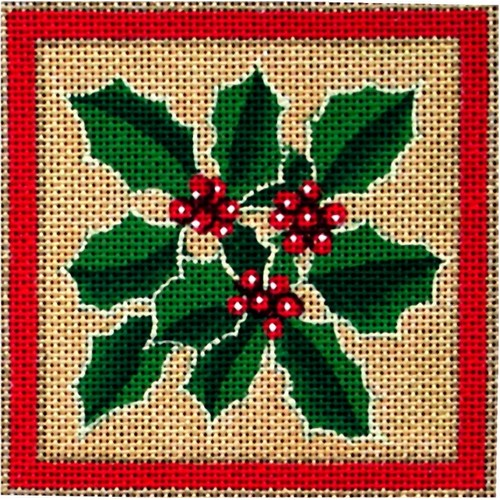 click here to view larger image of Holly Coaster (hand painted canvases)