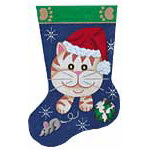 click here to view larger image of Kitten Stocking (hand painted canvases)