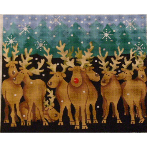 click here to view larger image of Moose As Rudolph (hand painted canvases)