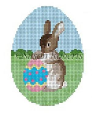 click here to view larger image of Rabbit with Egg (hand painted canvases)