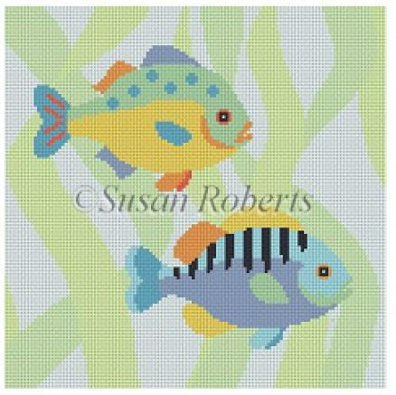 click here to view larger image of Fish Duo (hand painted canvases)