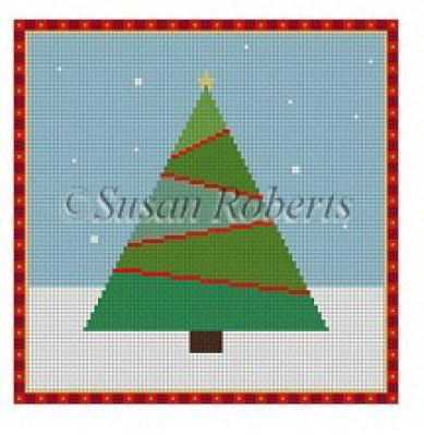 click here to view larger image of Stitchery Christmas Tree (hand painted canvases)