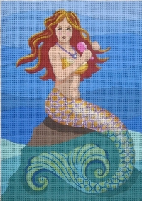 click here to view larger image of Laverne - Mermaid Brushes Hair (hand painted canvases)