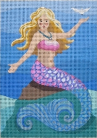 click here to view larger image of Patty - Mermaid With Dove (hand painted canvases)