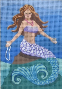 click here to view larger image of Maxine - Mermaid With Pearls (hand painted canvases)