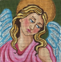 click here to view larger image of Angel Pillow (hand painted canvases)