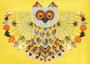 click here to view larger image of Haunted Hooter (hand painted canvases)
