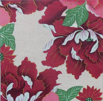 click here to view larger image of Floral Panel 1 (hand painted canvases)