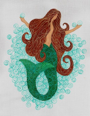 click here to view larger image of Mermaid, The (hand painted canvases)