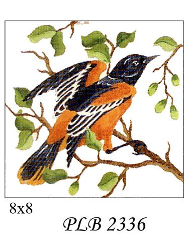 click here to view larger image of Baltimore Oriole (13ct) (hand painted canvases)