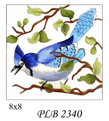 click here to view larger image of Blue Jay (13ct) (hand painted canvases)