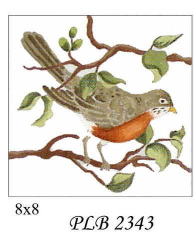 click here to view larger image of Robin (18ct) (hand painted canvases)