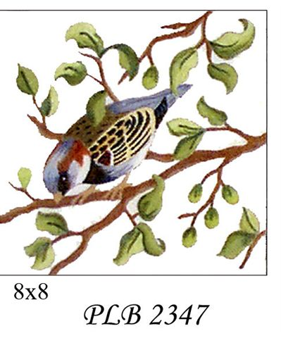 click here to view larger image of House Sparrow (13ct) (hand painted canvases)